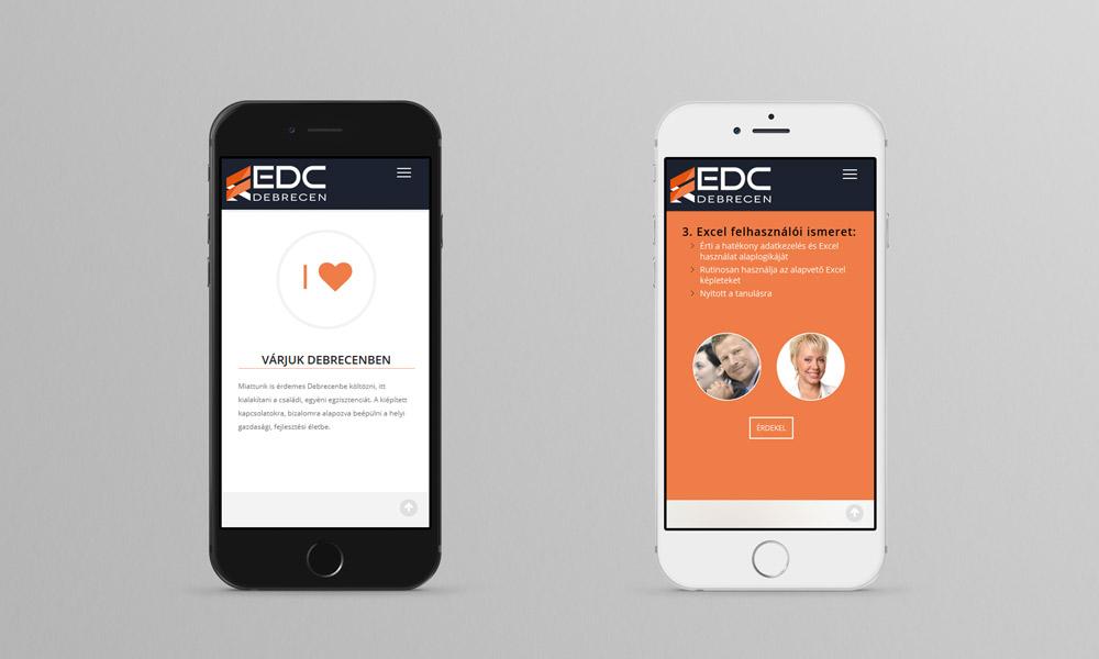 EDC Debrecen mobil reszponzív