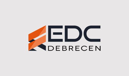 EDC Debrecen logó tervezés