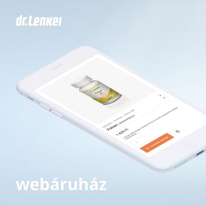 Dr. Lenkei - weboldal készítés, egyedi design